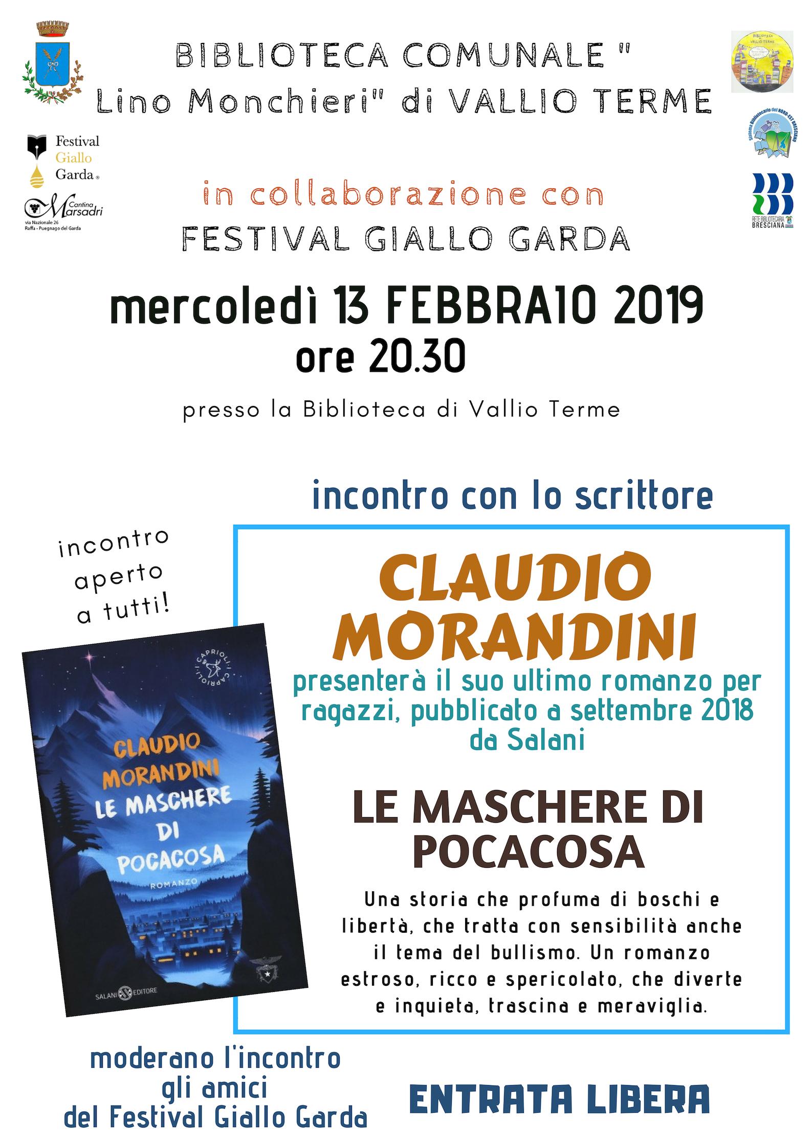 INCONTRO CON LO SCRITTORE CLAUDIO MORANDINI