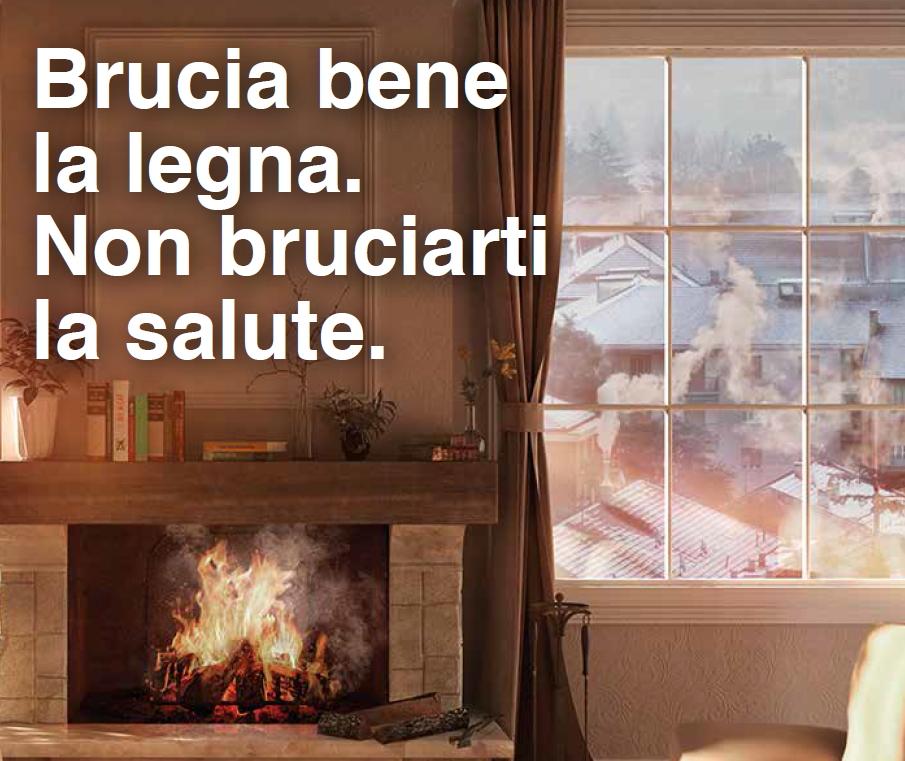 BRUCIA BENE LA LEGNA - NON BRUCIARTI LA SALUTE