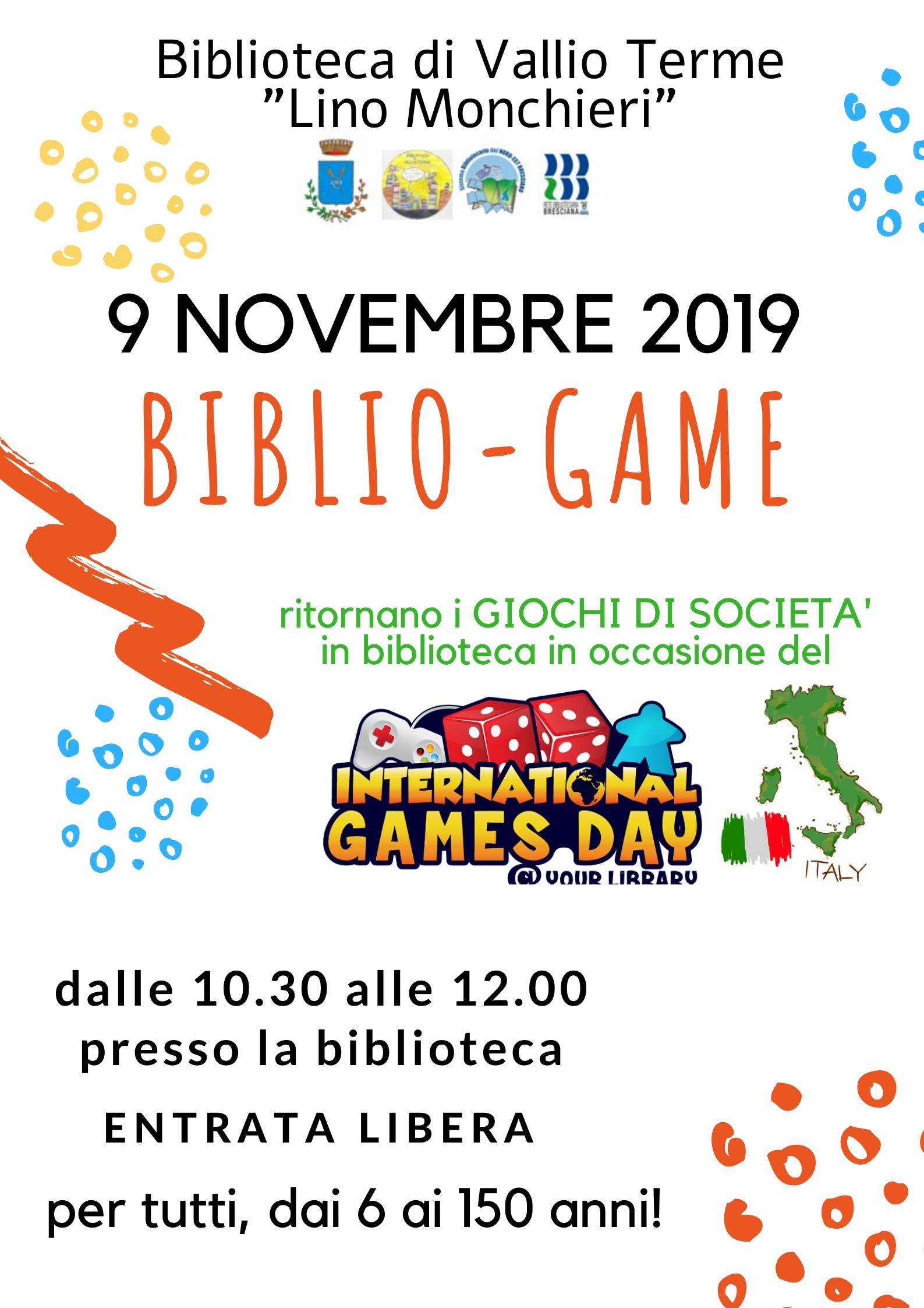 BIBLIO-GAME  9 NOVEMBRE 2019